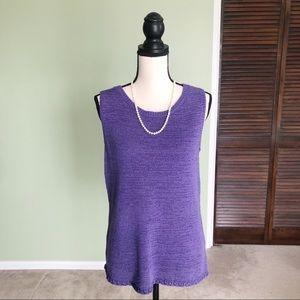 Coldwater Creek Purple Knit Tunic Size Small